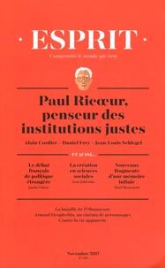 Anne-Lorraine Bujon - Esprit N° 439, novembre 201 : Paul Ricoeur, penseur des institutions justes.