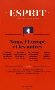 Anne-Lorraine Bujon - Esprit N° 440, décembre 201 : Nous, l'Europe et les autres.