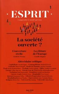 Anne-Lorraine Bujon - Esprit N° 445, juin 2018 : La société ouverte ?.