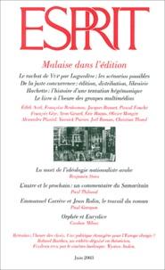 Benjamin Stora et  Collectif - Esprit N° 6 Juin 2003 : Malaise dans l'édition.