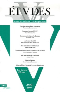 Pierre de Charentenay et Jean-Yves Calvez - Etudes N° 4, Tome 406, avri : .