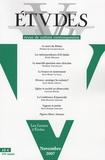 Pierre de Charentenay et Marc Hecker - Etudes N° 5, Tome 407  (407 : .
