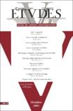Henri Madelin et  Collectif - Etudes Tome 399, n° 4, Octo : .