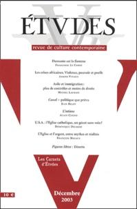 Joseph Vitalis et Michel Laurain - Etudes Tome 399 N° 6 Décemb : .