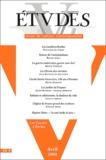 Régine Azria et Bruno Tertrais - Etudes Tome 400 N° 4 Avril : .