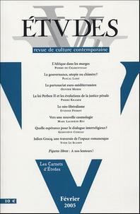 Pierre de Charentenay et  Collectif - Etudes Tome 402, N° 2 (4022 : .