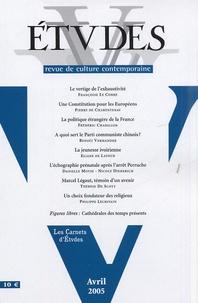 Pierre de Charentenay et  Collectif - Etudes Tome 402, N° 4, Avri : .