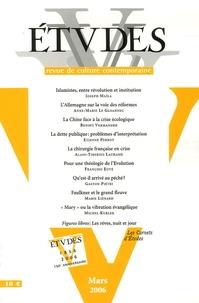 Joseph Maïla et Anne-Marie Le Gloannec - Etudes Tome 404, N° 3, Mars : .