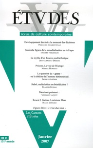 Pierre de Charentenay - Etudes Tome 406 N° 1 (4061) : .