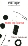 Charles Dobzynski et Jean-Baptiste Para - Europe 986-987, Juin-Juille : André du Bouchet.