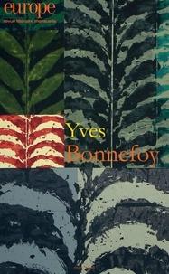 Jean-Baptiste Para - Europe N° 1067, mars 2018 : Yves Bonnefoy.