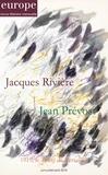 Jean-Baptiste Para - Europe N° 1082-1083-1084, j : Jacques Rivière, Jean Prévost - 1919, le traité de Versailles.