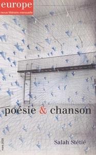 Jean-Baptiste Para - Europe N° 1091, mars 2020 : Poésie & chanson, Salah Stétié.
