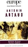Evelyne Grossman et Camille Dumoulié - Europe N° 873-874, Janvier- : Antonin Artaud.
