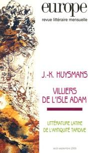 Michel Lamart et Rémy De Gourmont - Europe N° 916-917, Août-Sep : J-K Huysmans, Villiers de l'Isle Adam.