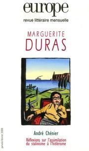Evelyne Grossman et Emmanuelle Touati - Europe N° 921-922, Janvier- : Marguerite Duras.