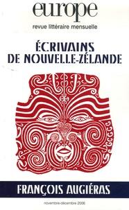 Pierre Furlan - Europe N° 931-932, Novembre : Ecrivains de Nouvelle-Zélande ; François Augiéras.
