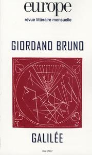 Luca Salza et Italo Calvino - Europe N° 937 : Giordano Bruno, Galilée.
