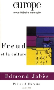 Fernand Cambon et Jean-Pierre Winter - Europe N° 954, Octobre 2008 : Freud et la culture.