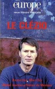 Claude Cavallero et Tahar Ben Jelloun - Europe N° 957-958, janvier- : Le Clézio.