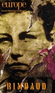 Steve Murphy et Tristan Tzara - Europe N° 966, Octobre 2009 : Arthur Rimbaud.