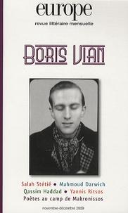 Charles Dobzynski - Europe N° 967-968, Novembre : Boris Vian.