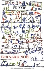 Bernard Noël - Europe N° 981-982, Janvier- : .