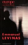 Charles Dobzynski et Jean-Baptiste Para - Europe N° 991-992, Novembre : Emmanuel Levinas.