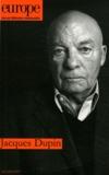 Jean-Claude Mathieu - Europe N° 998-999, Juin-jui : Jacques Dupin.