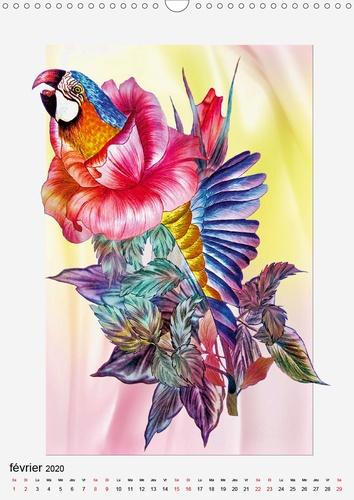 Fantaisie  Vrais artistes de l'âme (Calendrier mural 2020 DIN A3 vertical). Dessins au crayon de couleur (Calendrier mensuel, 14 Pages )