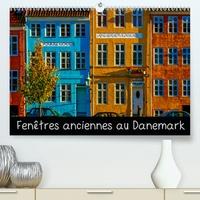 Michel Angot - Fenêtres anciennes au Danemark (Calendrier supérieur 2020 DIN A2 horizontal) - Un vieux village de pêcheurs, de petites maisons d'époque aux fenêtres anciennes et décorées avec soin et originalité (Calendrier mensuel, 14 Pages ).