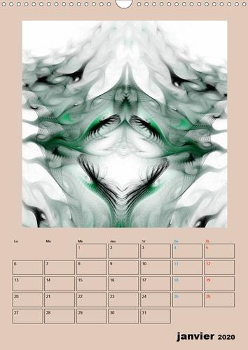 Frac'art (Calendrier mural 2020 DIN A3 vertical). Images fractales numériques (Organiseur, 14 Pages )