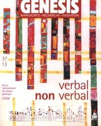 Aurèle Crasson et Louis Hay - Genesis N° 37/2013 : Verbal / Non verbal.