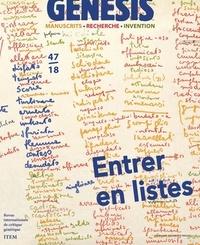 Rudolf Mahrer et Gaspard Turin - Genesis N° 47/2018 : Entrer en listes.