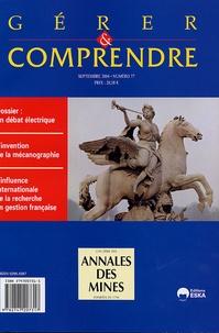 Frédérique Pallez et Francis Pavé - Gérer et comprendre N° 77, Septembre 200 : Un débat éléctrique.