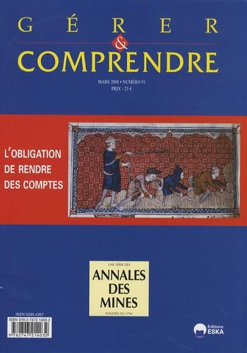 Hervé Dumez - Gérer et comprendre N° 91, Mars 2008 : L'obligation de rendre des comptes.