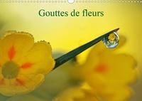 Véronique Brosseau - Gouttes de fleurs (Calendrier mural 2020 DIN A3 horizontal) - Photos macro de gouttes de fleurs (Calendrier mensuel, 14 Pages ).