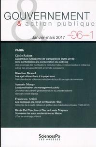 Philippe Bezes et Patrick Hassenteufel - Gouvernement & action publique Volume 1 N° 6, janvi : .