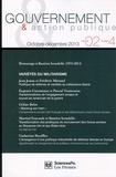 Jean Joana et Frédéric Mérand - Gouvernement & action publique Volume 2 N° 4, Octob : Variétés du militarisme.