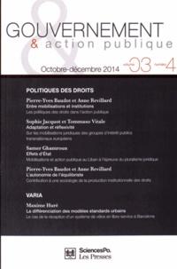 Pierre-Yves Baudot et Anne Revillard - Gouvernement & action publique Volume 3 N° 4, Octob : Politiques des droits.
