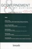 Ulrike Lepont et Lorenzo Barrault-Stella - Gouvernement & action publique Volume 5 N° 3, juill : Varia.