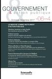 Philippe Bezes et Patrick Hassenteufel - Gouvernement & action publique Volume 6 N°4, octobr : Le marché comme instrument d'action publique.