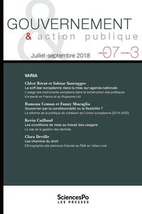 Philippe Bezes et Patrick Hassenteufel - Gouvernement & action publique Volume 7 N° 3, juill : Varia.