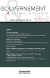 Sciences Po - Gouvernement & action publique Volume 8 N° 3, 2019 : .