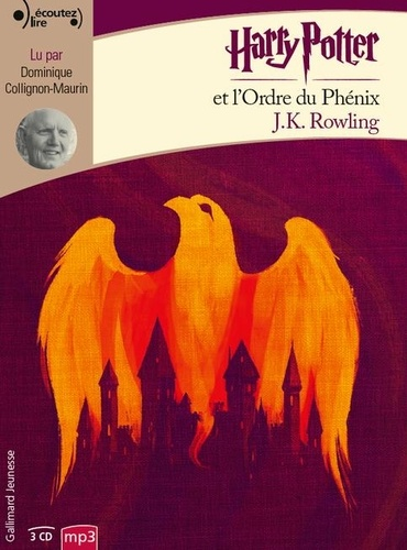 J.K. Rowling - Harry Potter Tome 5 : Harry Potter et l'ordre du phénix. 3 CD audio MP3