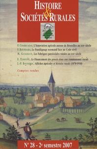 Paulo Charruadas et Fabrice Boudjaaba - Histoire & Sociétés Rurales N° 28, 2e semestre 2 : .
