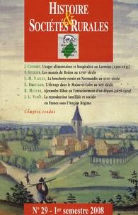 Histoire & Sociétés Rurales N° 29, 1er semestre.pdf