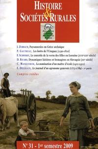 Jean-Marc Moriceau - Histoire & Sociétés Rurales N° 31, 1er semestre : .