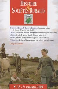 Bruno Jaudon et Jacques Lepart - Histoire & Sociétés Rurales N° 32, 2e semestre 2 : .