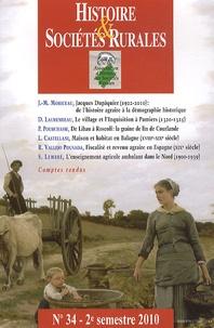 Jean-Marc Moriceau - Histoire & Sociétés Rurales N° 34, 2e semestre 2 : .